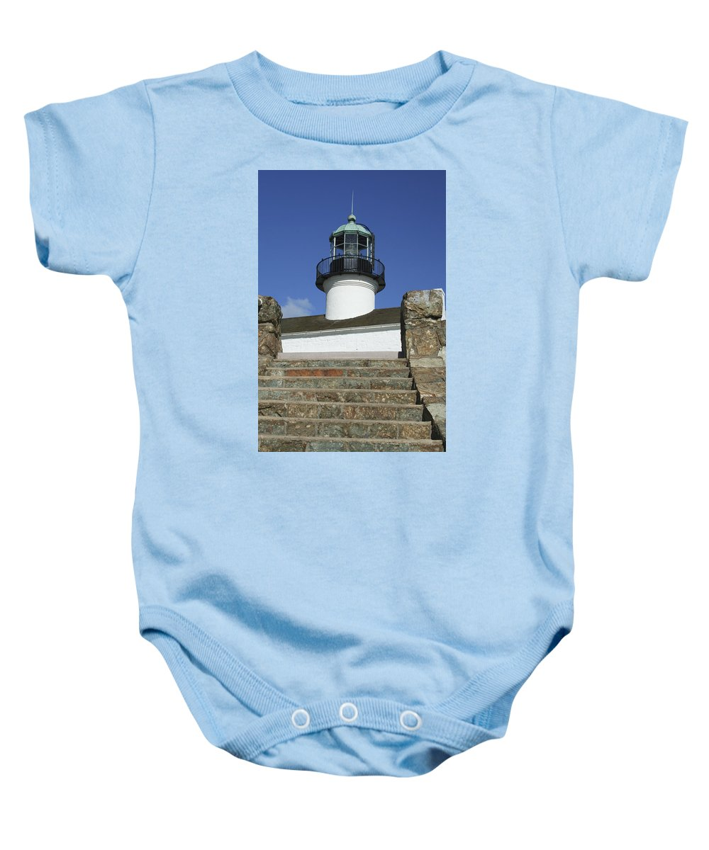 Bay Baby Onesie featuring the photograph Up To The Light by Margie Wildblood