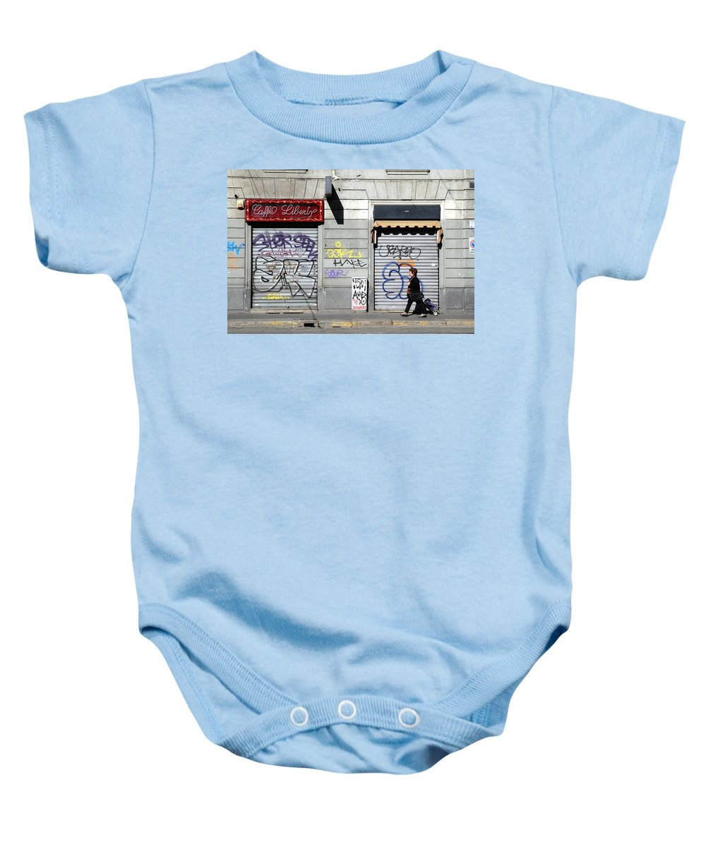 Urban Baby Onesie featuring the photograph Urban Desert by Valentino Visentini
