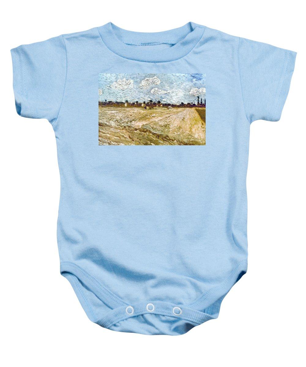 1888 Baby Onesie featuring the photograph Van Gogh: Fields, 1888 by Granger