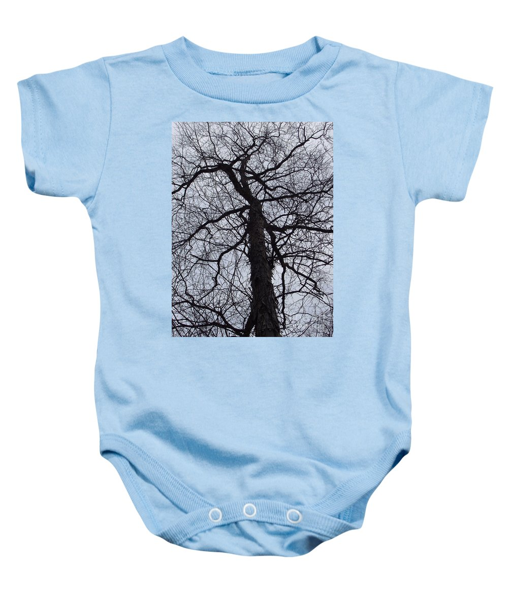 Hickory Baby Onesie featuring the photograph Veins And Vessels by Deborah Crew-Johnson