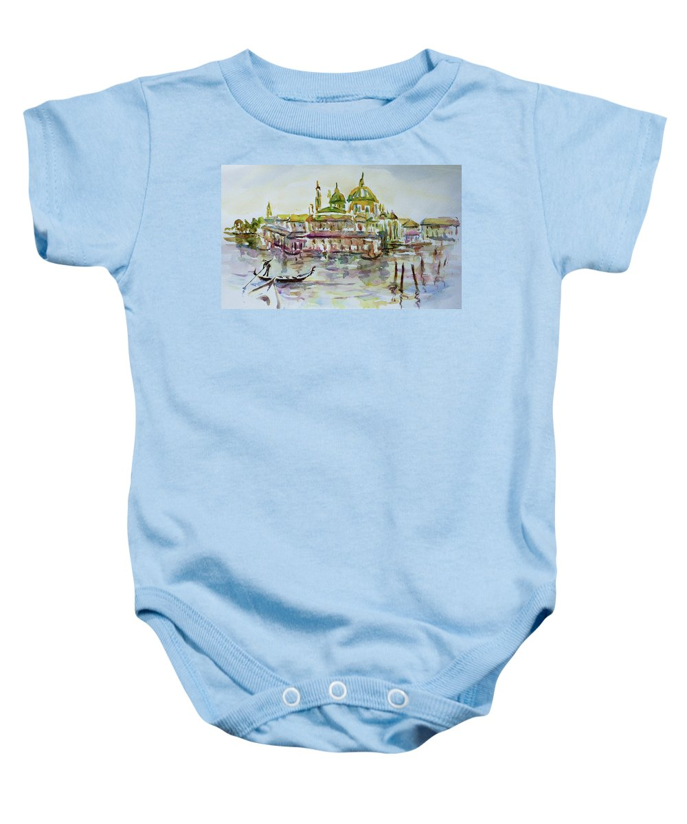 Watercolour Baby Onesie featuring the painting Venice Impression Iv by Xueling Zou