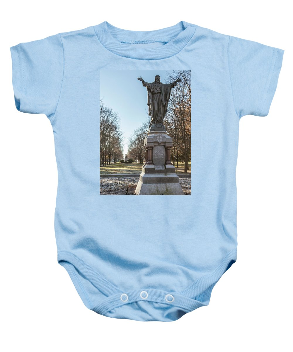 American University Baby Onesie featuring the photograph Venite Ad Me Omnes by John McGraw