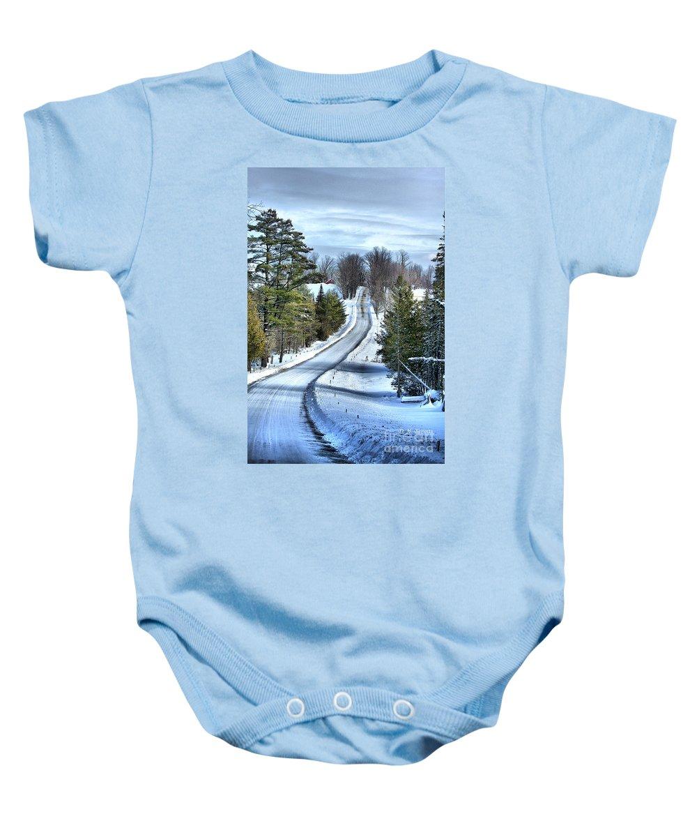 Vermont Baby Onesie featuring the photograph Vermont Country Landscape by Deborah Benoit