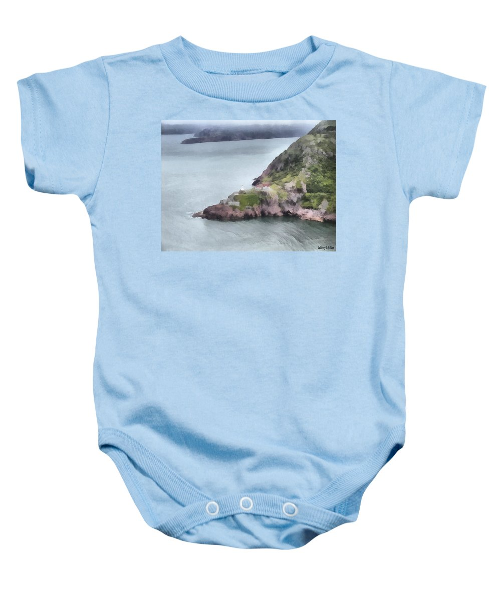 Canadian Baby Onesie featuring the painting View From Signal Hill by Jeffrey Kolker