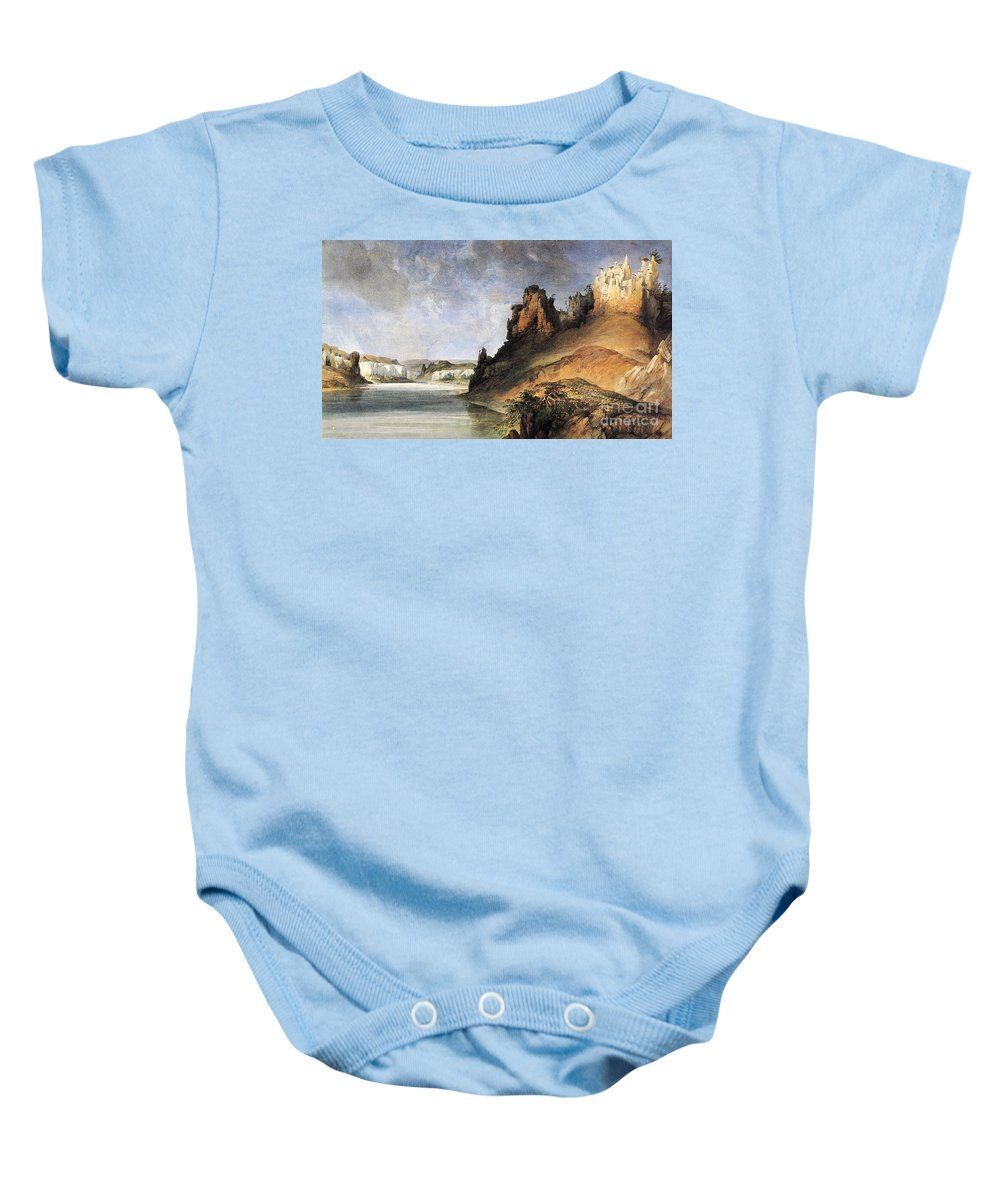 1830s Baby Onesie featuring the photograph View Of The Stone Walls by Granger