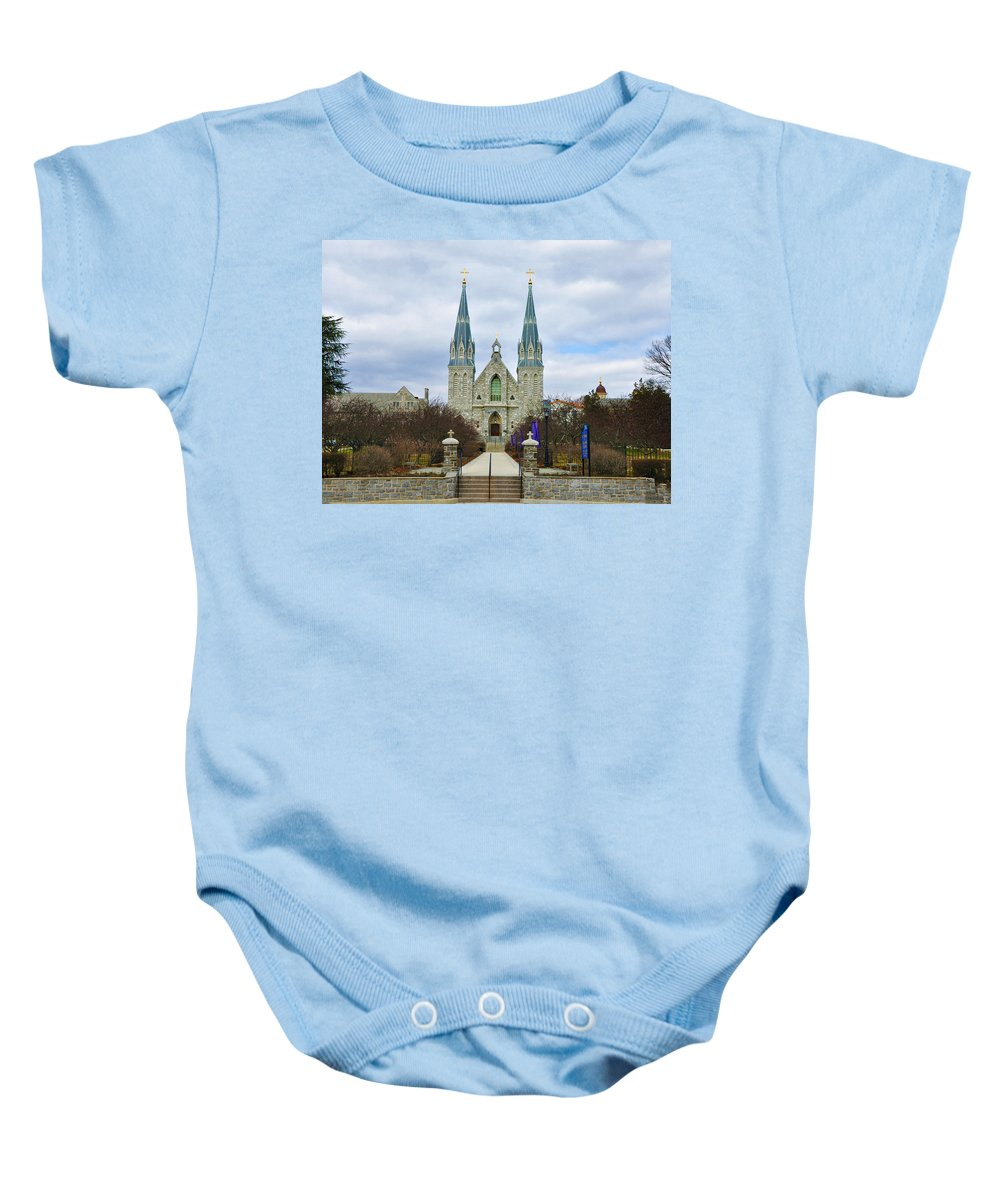 Villanova College Baby Onesie featuring the photograph Villanova College by Bill Cannon