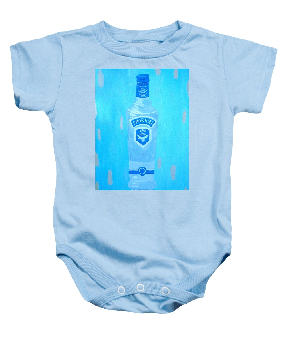Pop Art Baby Onesie featuring the painting Vodka by Patrice Tullai