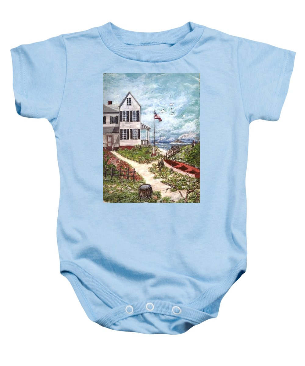 Original Portrait Size Painting Baby Onesie featuring the painting War Ready by Peter Tumblety