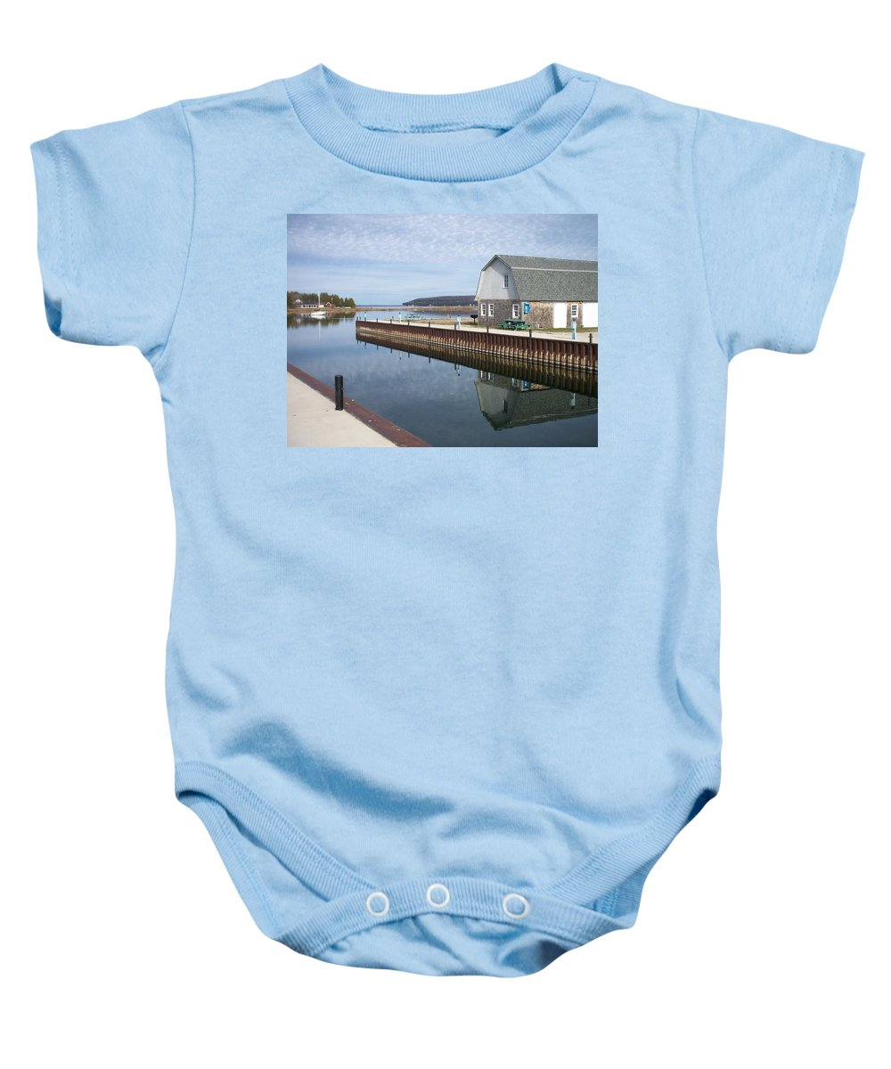 Washington Island Baby Onesie featuring the photograph Washington Island Harbor 2 by Anita Burgermeister