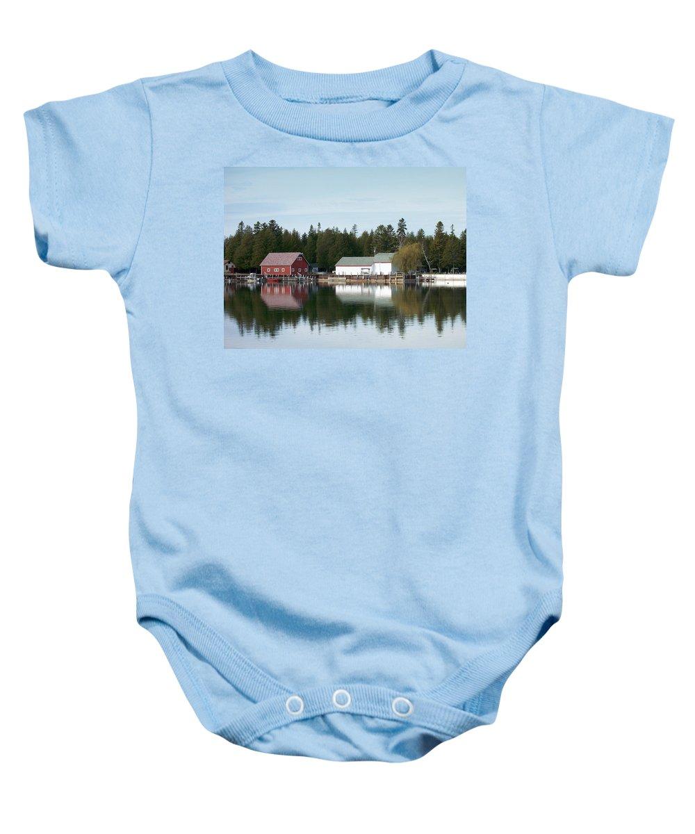 Washington Island Baby Onesie featuring the photograph Washington Island Harbor 7 by Anita Burgermeister