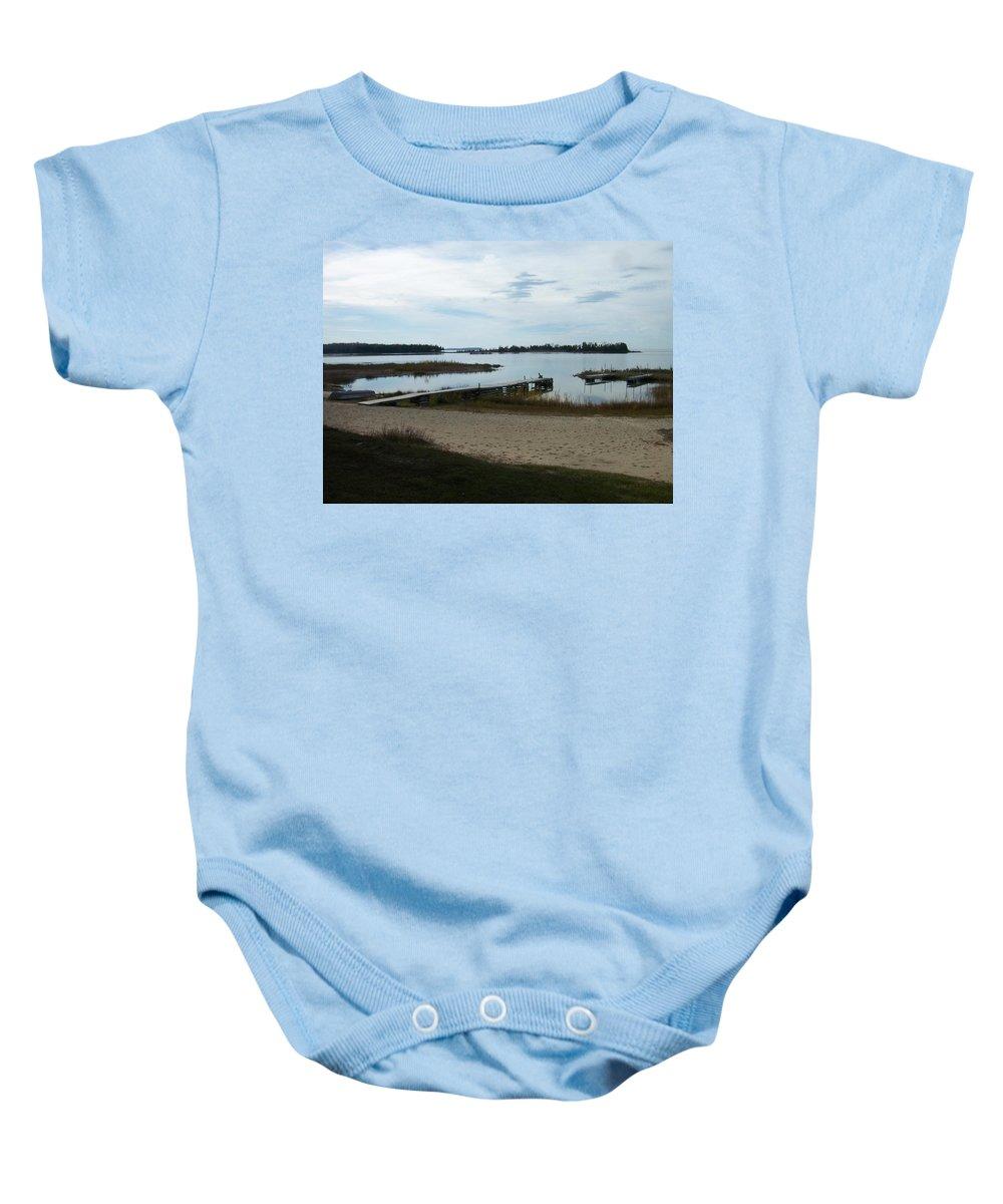 Washington Island Baby Onesie featuring the photograph Washington Island Shore 2 by Anita Burgermeister
