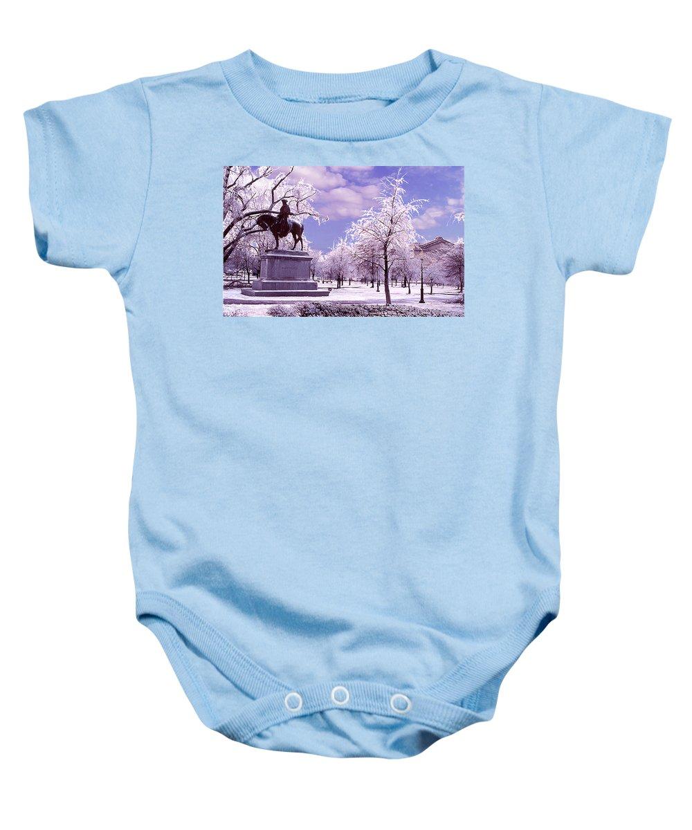 Landscape Baby Onesie featuring the photograph Washington Square Park by Steve Karol