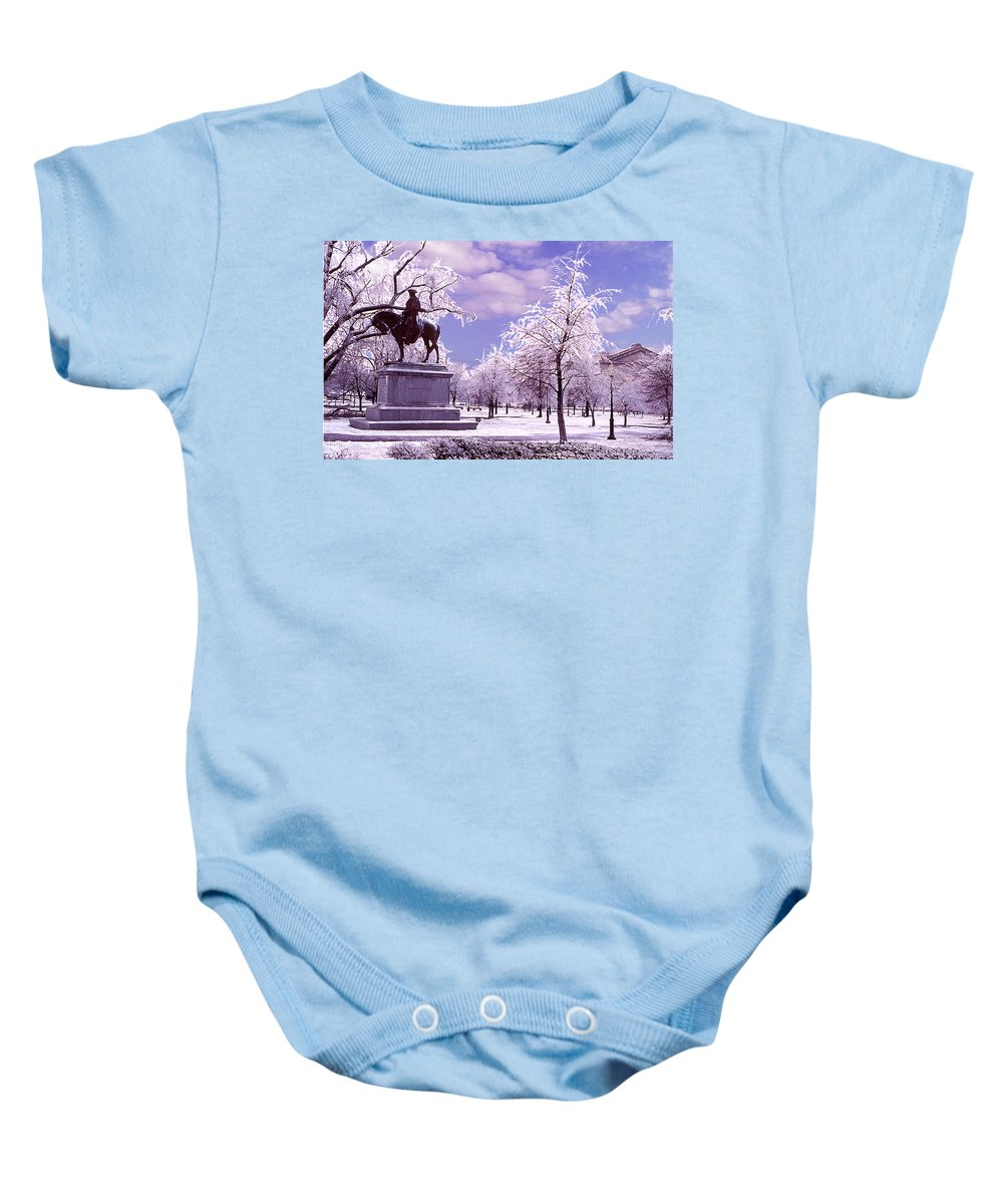 Landscape Baby Onesie featuring the photograph Washington Square Park by Steve Karol
