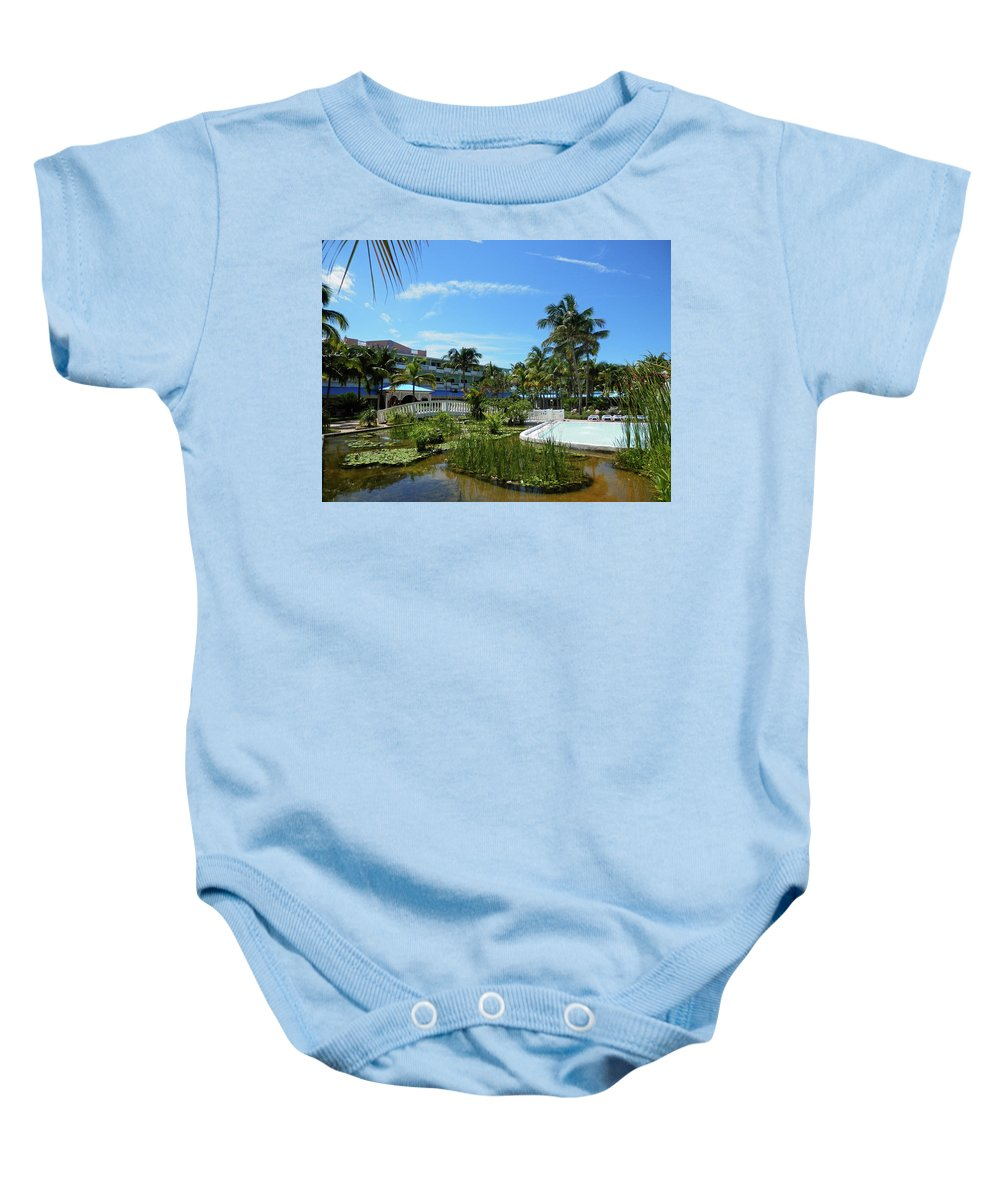 Water Baby Onesie featuring the photograph Water Garden by Pema Hou
