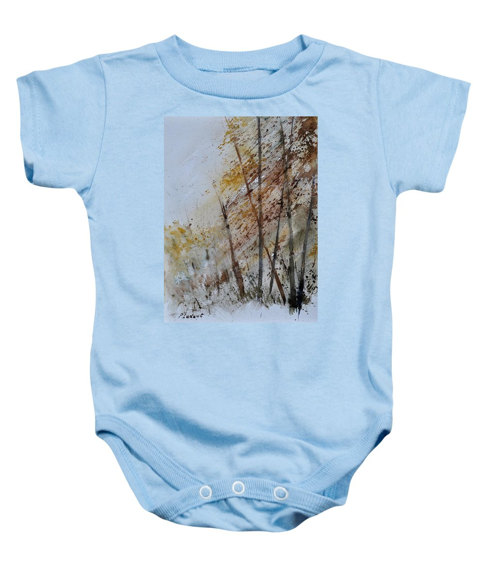 Landscape Baby Onesie featuring the painting Watercolor 010104 by Pol Ledent