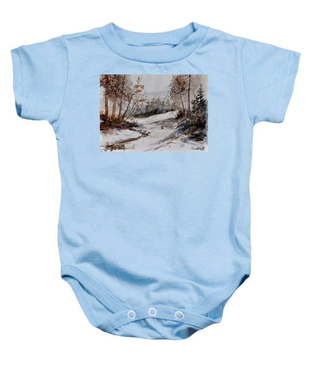 Landscape Baby Onesie featuring the painting Watercolor 017051 by Pol Ledent