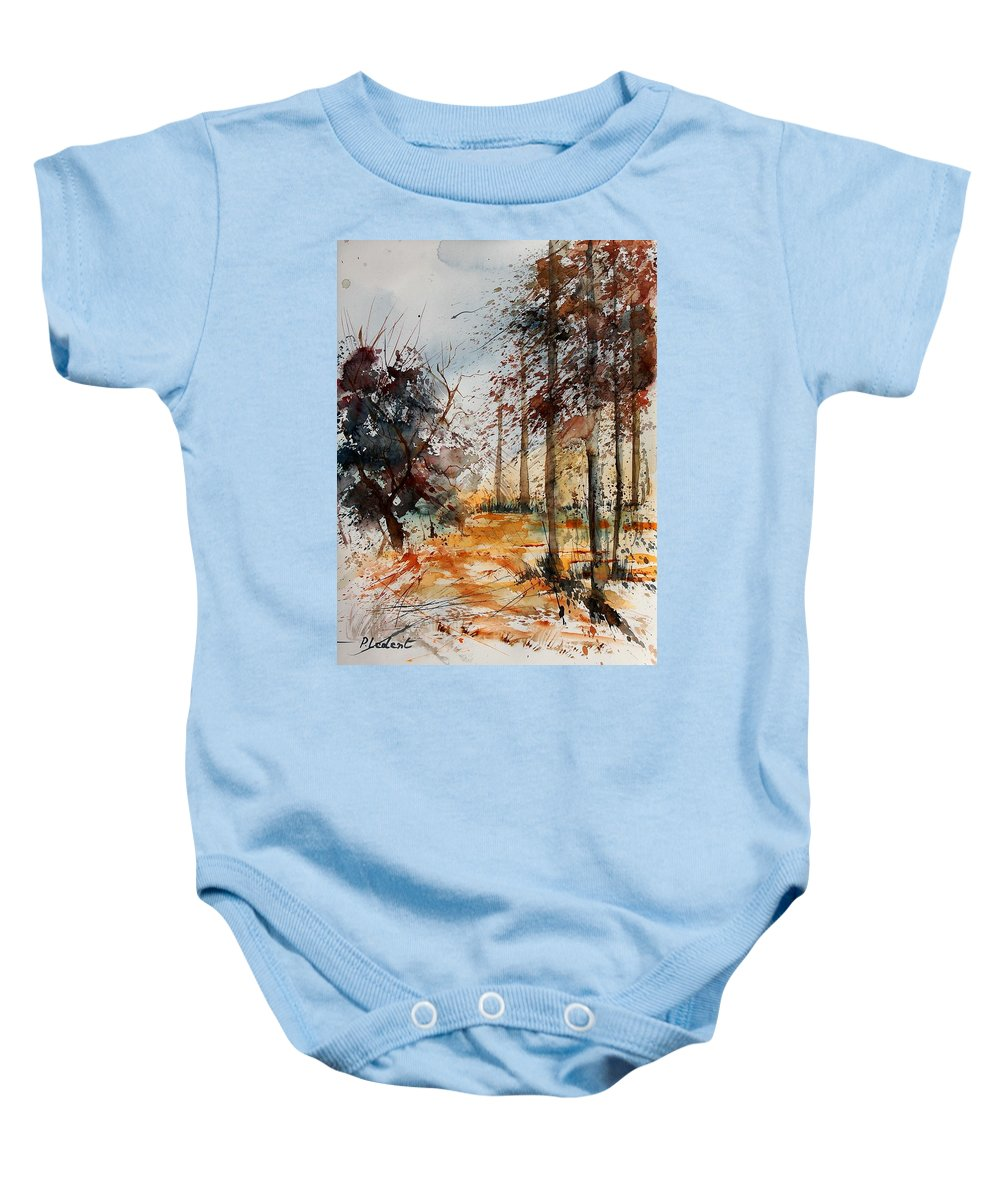 Tree Baby Onesie featuring the painting Watercolor 040902 by Pol Ledent