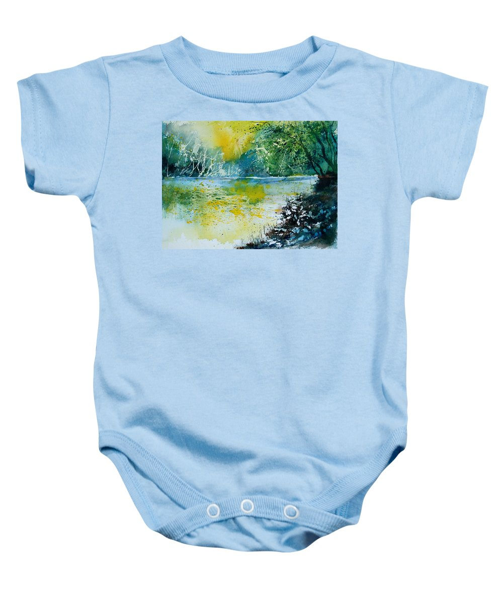 Pond Baby Onesie featuring the painting Watercolor 051108 by Pol Ledent
