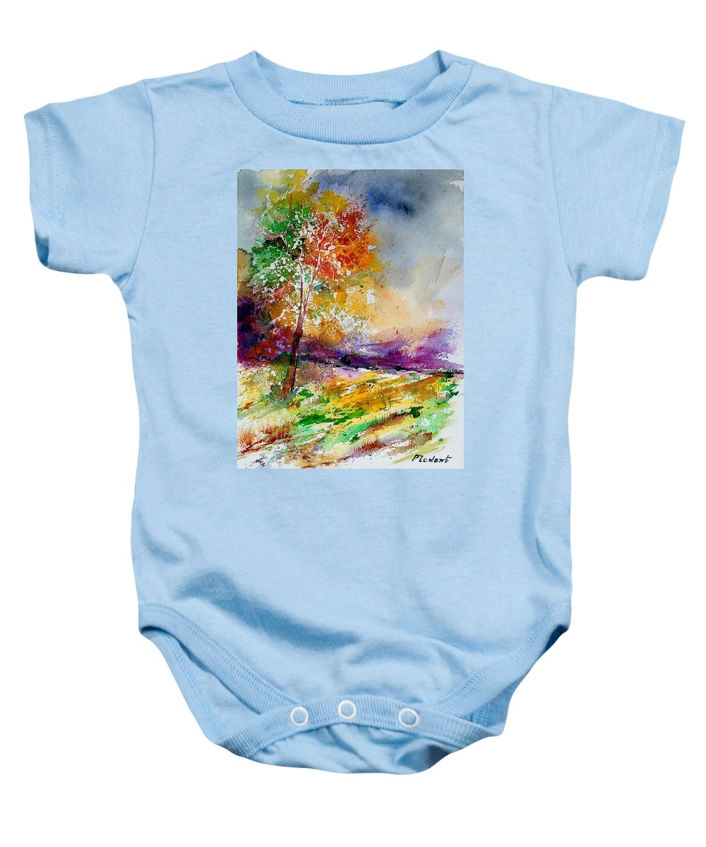 Spring Baby Onesie featuring the painting Watercolor 100507 by Pol Ledent