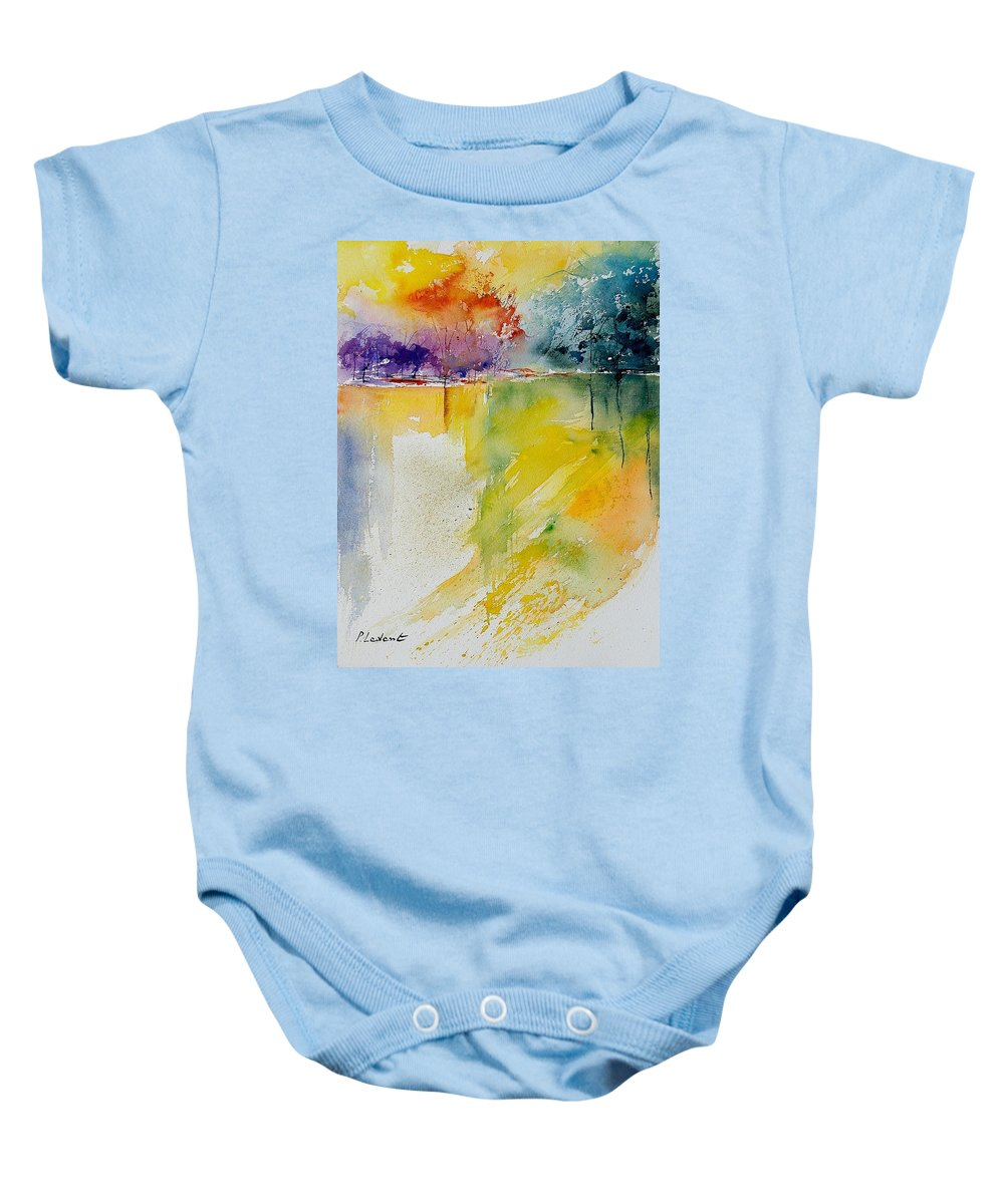 Water Baby Onesie featuring the painting Watercolor 241008 by Pol Ledent