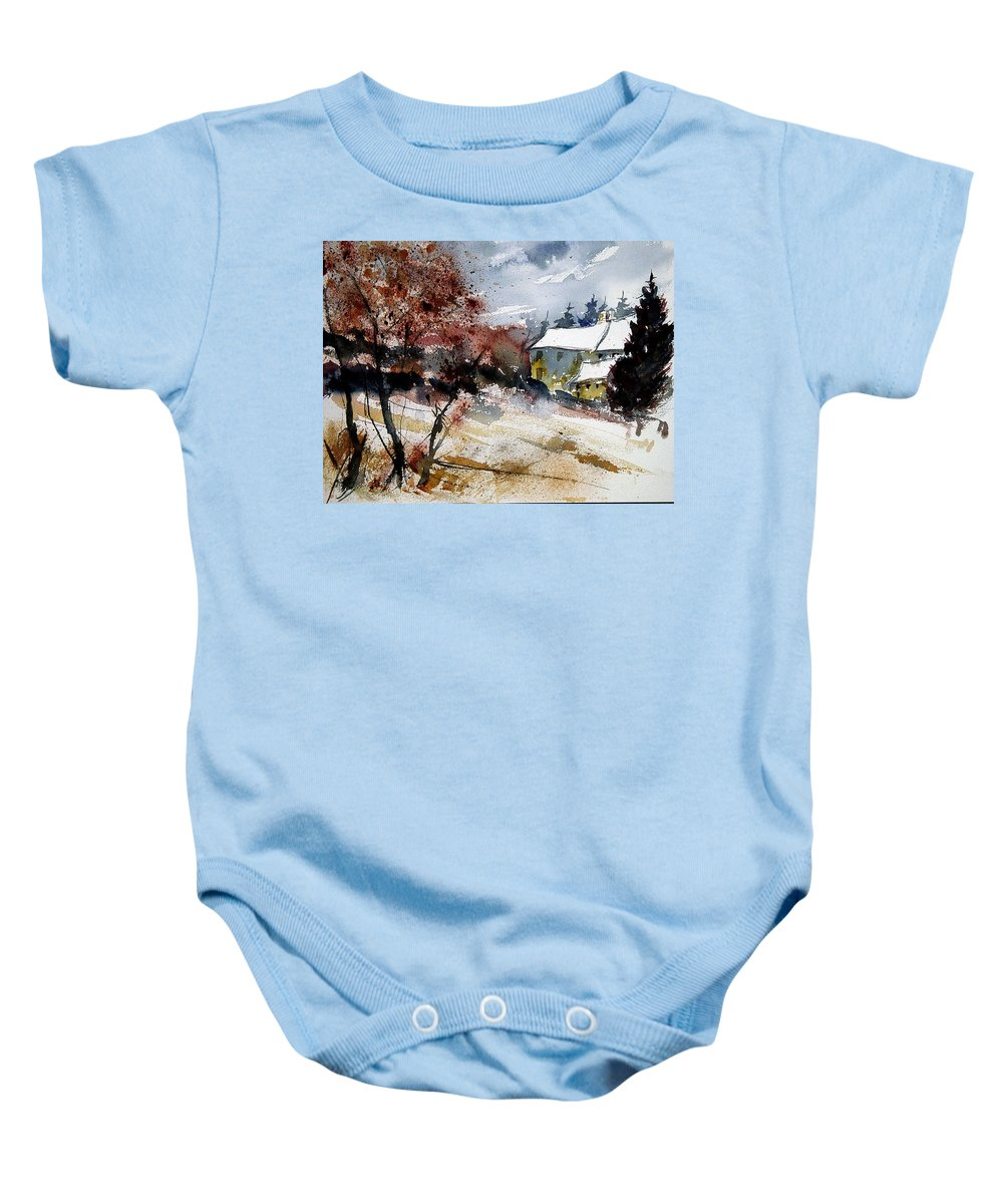 Winter Baby Onesie featuring the painting Watercolor 251205 by Pol Ledent