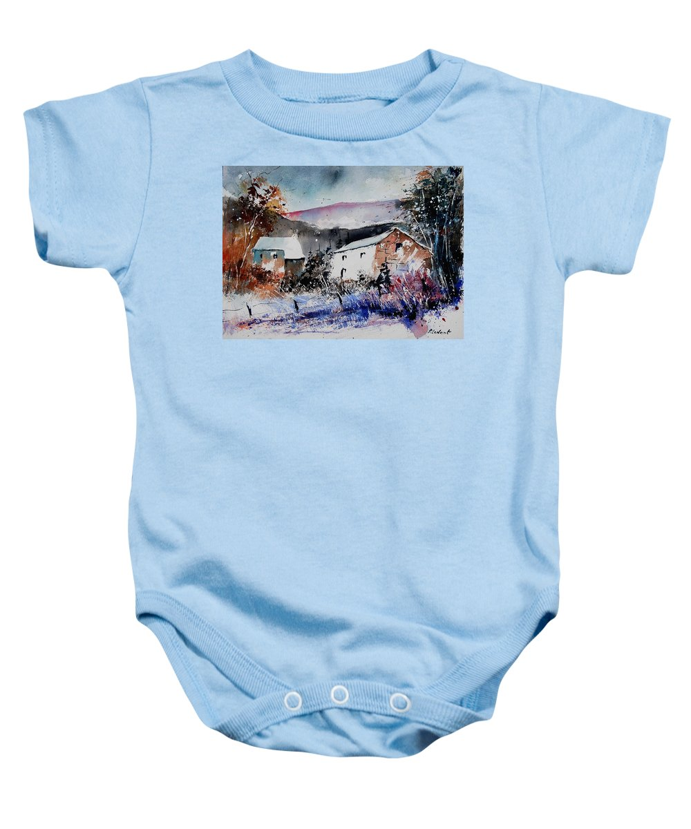 Winter Baby Onesie featuring the painting Watercolor 902080 by Pol Ledent