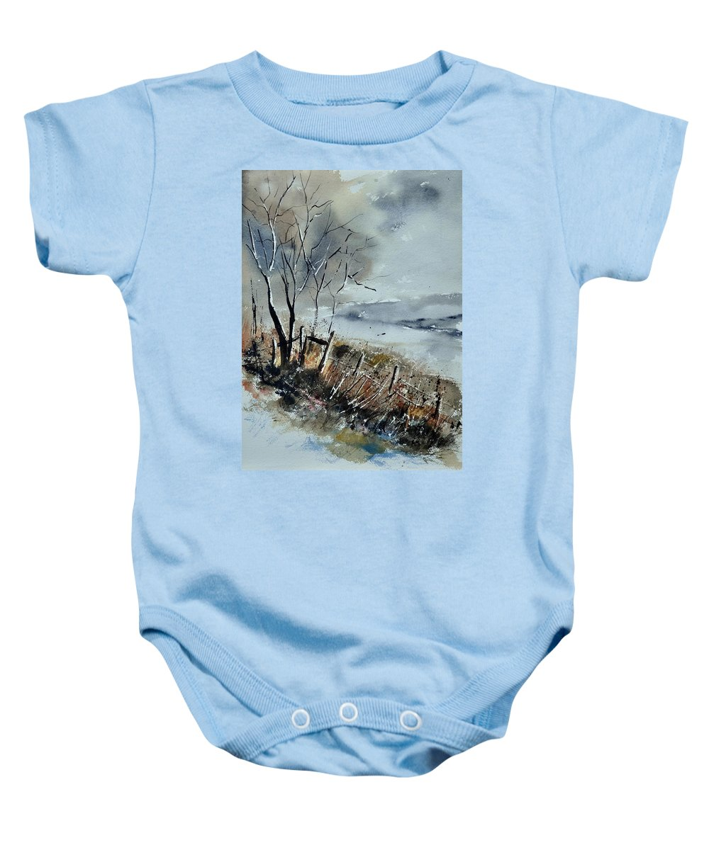 Landscape Baby Onesie featuring the painting Watercolor by Pol Ledent