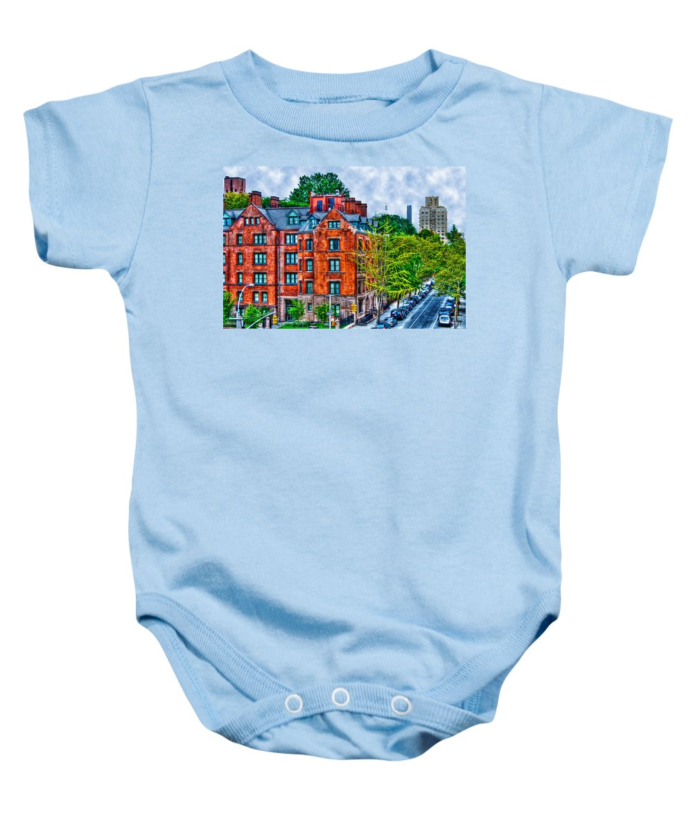 High Line Park Baby Onesie featuring the photograph West Village By The High Line by Randy Aveille