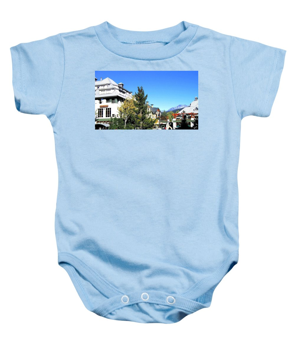 2010 Olympics Baby Onesie featuring the photograph Whistler Village by Will Borden