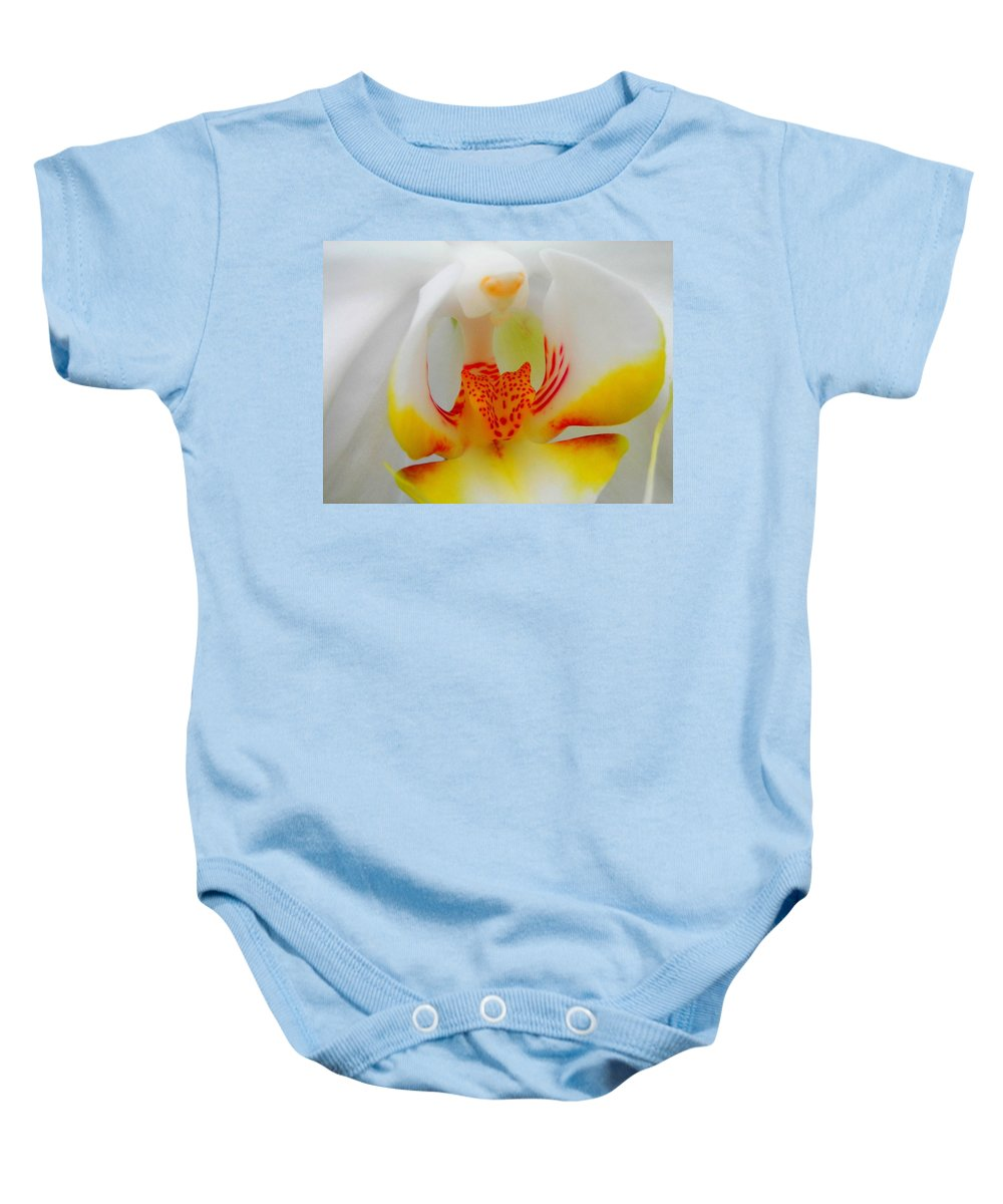 Flower Baby Onesie featuring the photograph White Beauty by Juergen Weiss