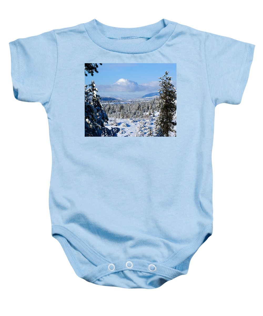 Nature Baby Onesie featuring the photograph White Blanket by Ben Upham III