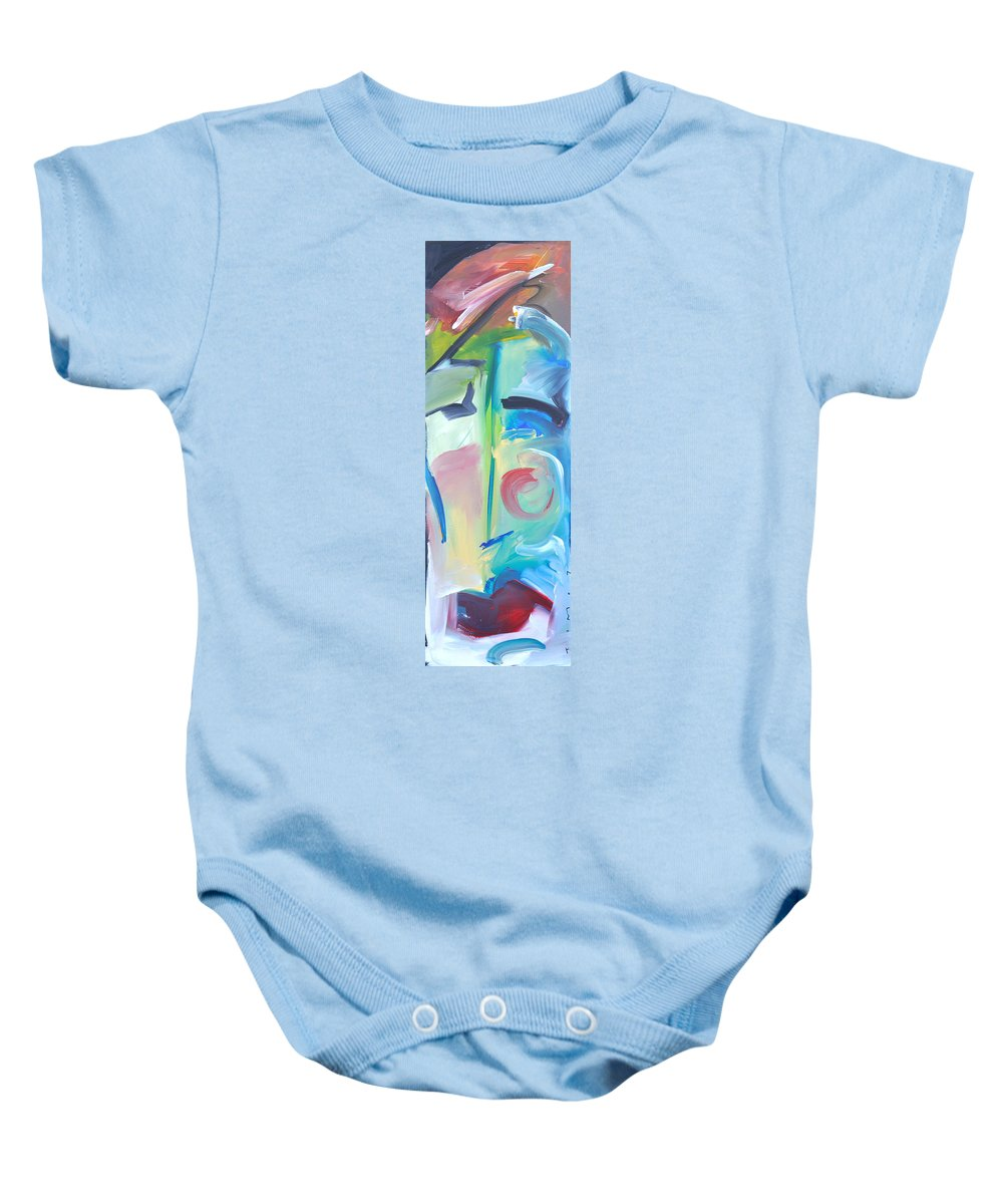 Woman Baby Onesie featuring the painting Why The Long Face by Tim Nyberg