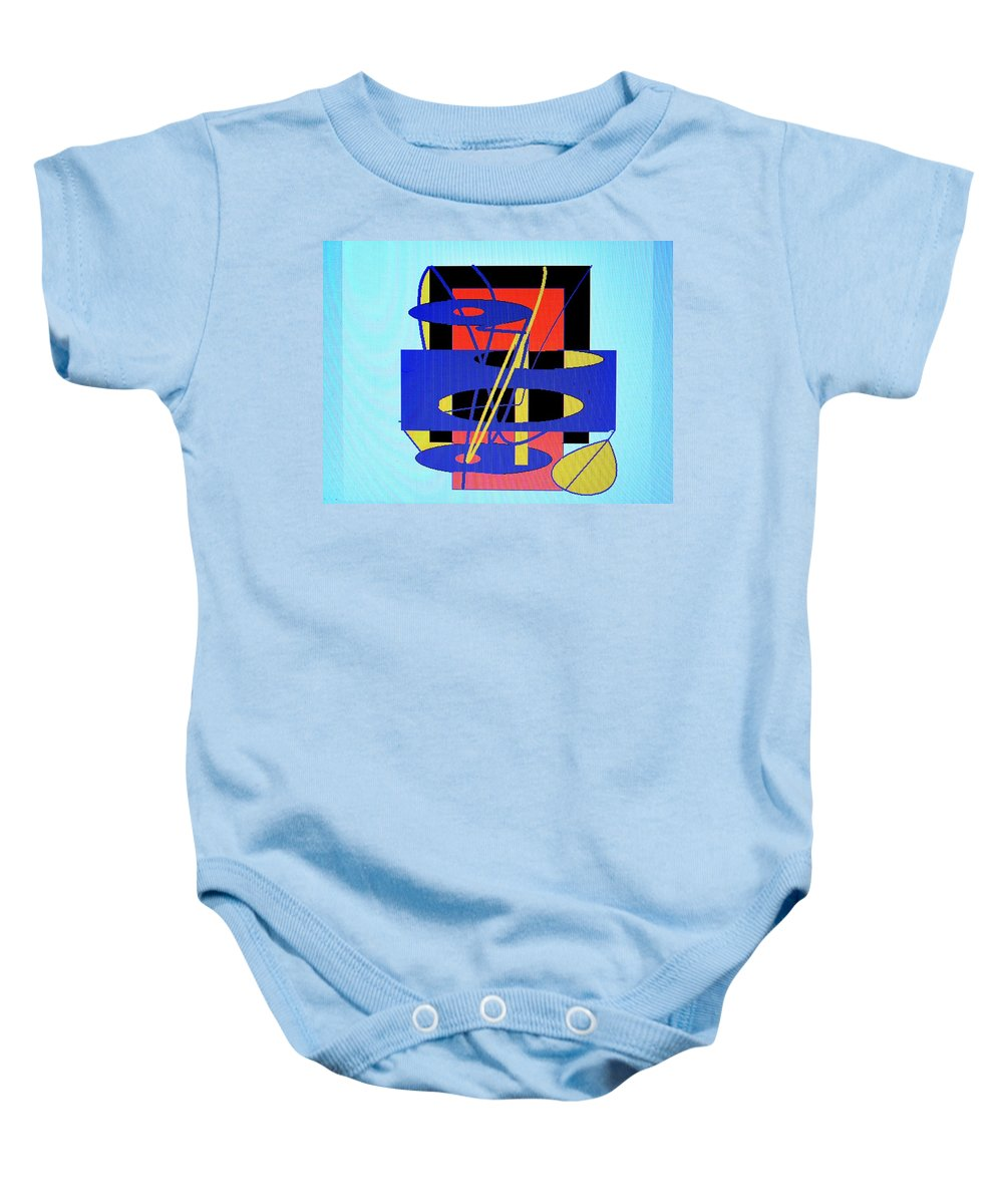 Abstract Baby Onesie featuring the digital art Widget World by Ian MacDonald