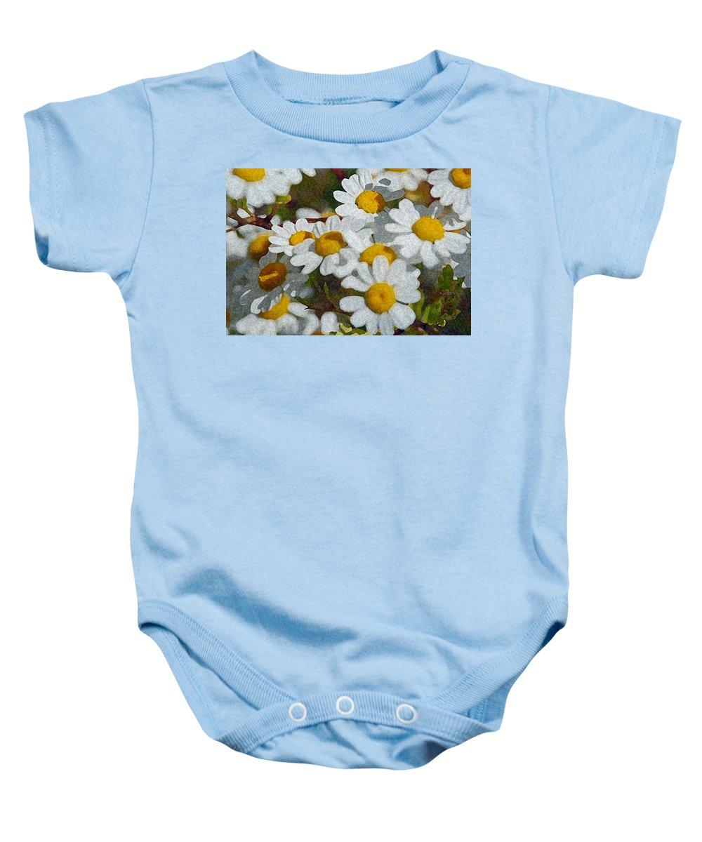 Daisies Baby Onesie featuring the photograph Wild Daisies II by Carol Eliassen