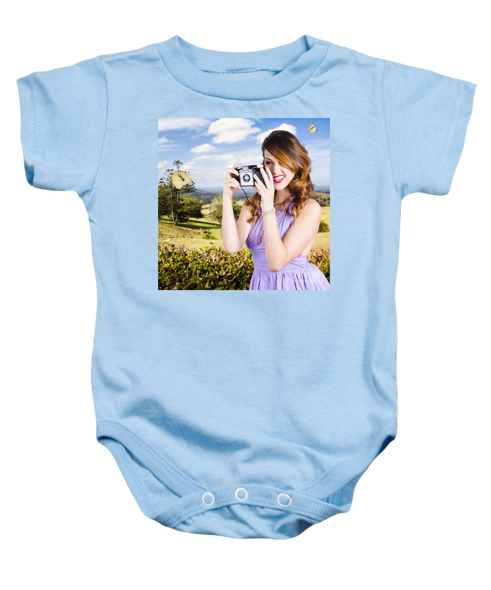 Photographer Baby Onesie featuring the photograph Wildlife Photographer Shooting Insects And Nature by Jorgo Photography - Wall Art Gallery