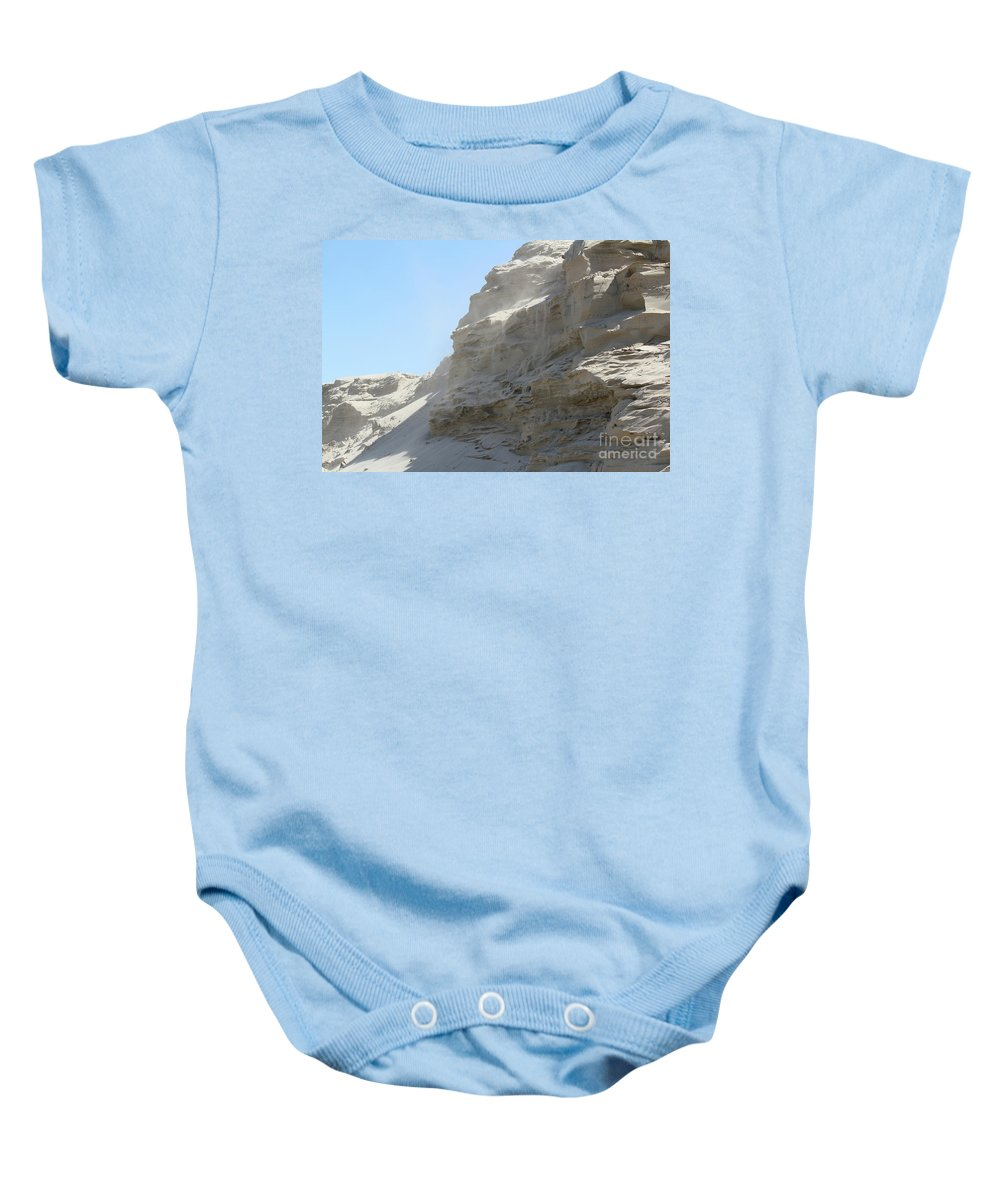Dune Baby Onesie featuring the photograph Wind Blowing Across The Desert by Goce Risteski
