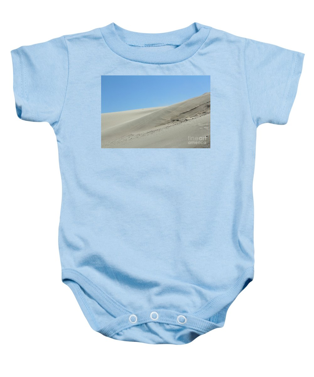 Dune Baby Onesie featuring the photograph Wind Blowing Across The Desert Nature Landscape by Goce Risteski
