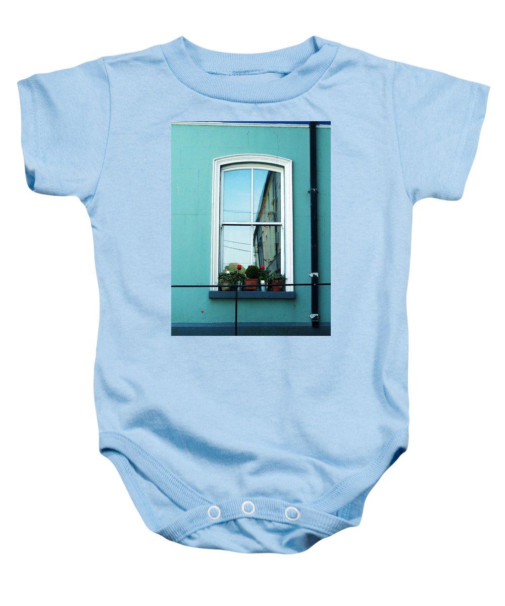 Irish Baby Onesie featuring the photograph Window In Ennistymon Ireland by Teresa Mucha