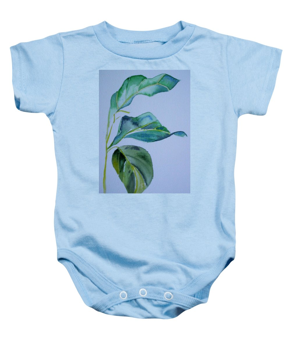 Nature Baby Onesie featuring the painting Window View by Suzanne Udell Levinger