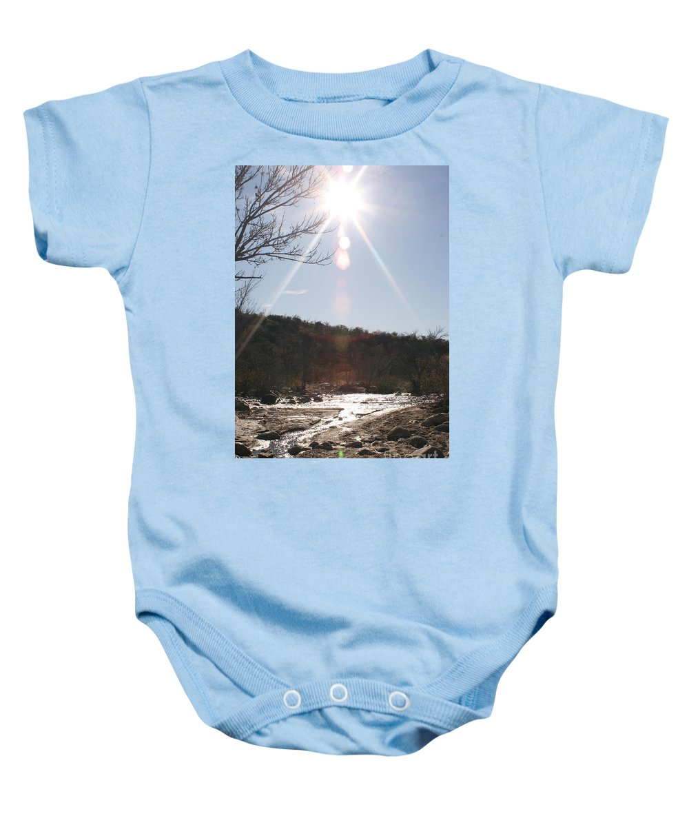 Winter Baby Onesie featuring the photograph Winter Light by Nadine Rippelmeyer