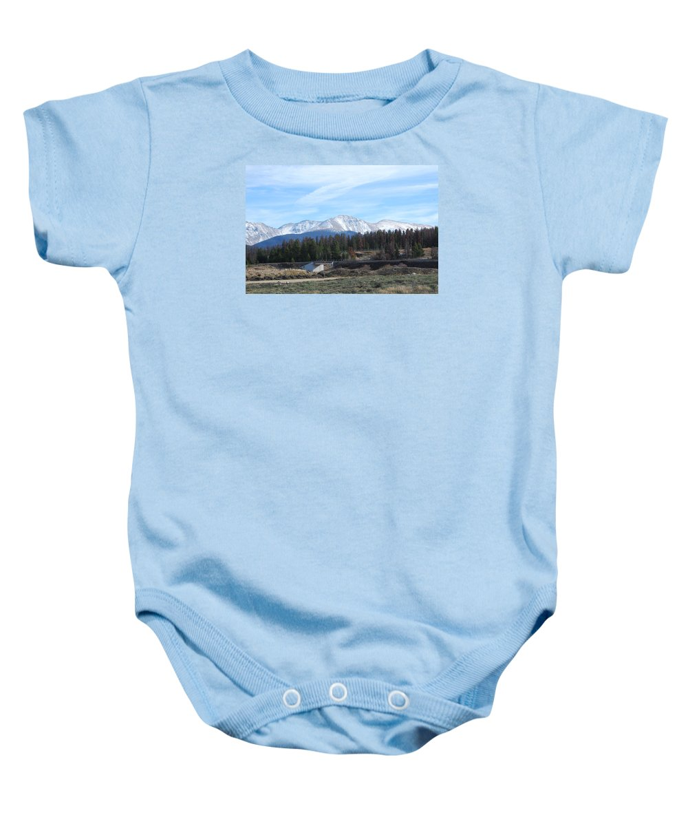 Colorado Baby Onesie featuring the photograph Winter Park Colorado by Margaret Fortunato