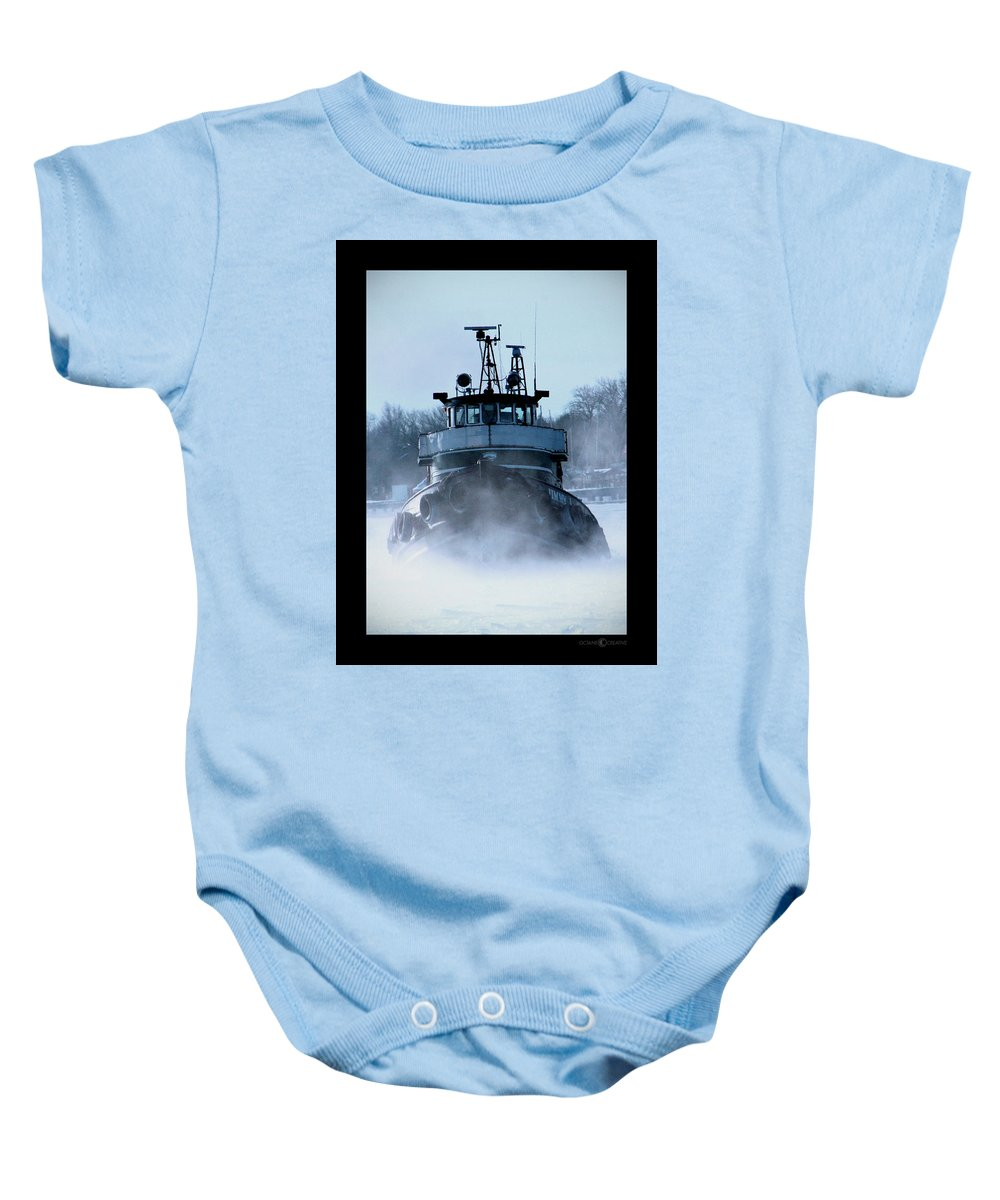 Tug Baby Onesie featuring the photograph Winter Tug by Tim Nyberg