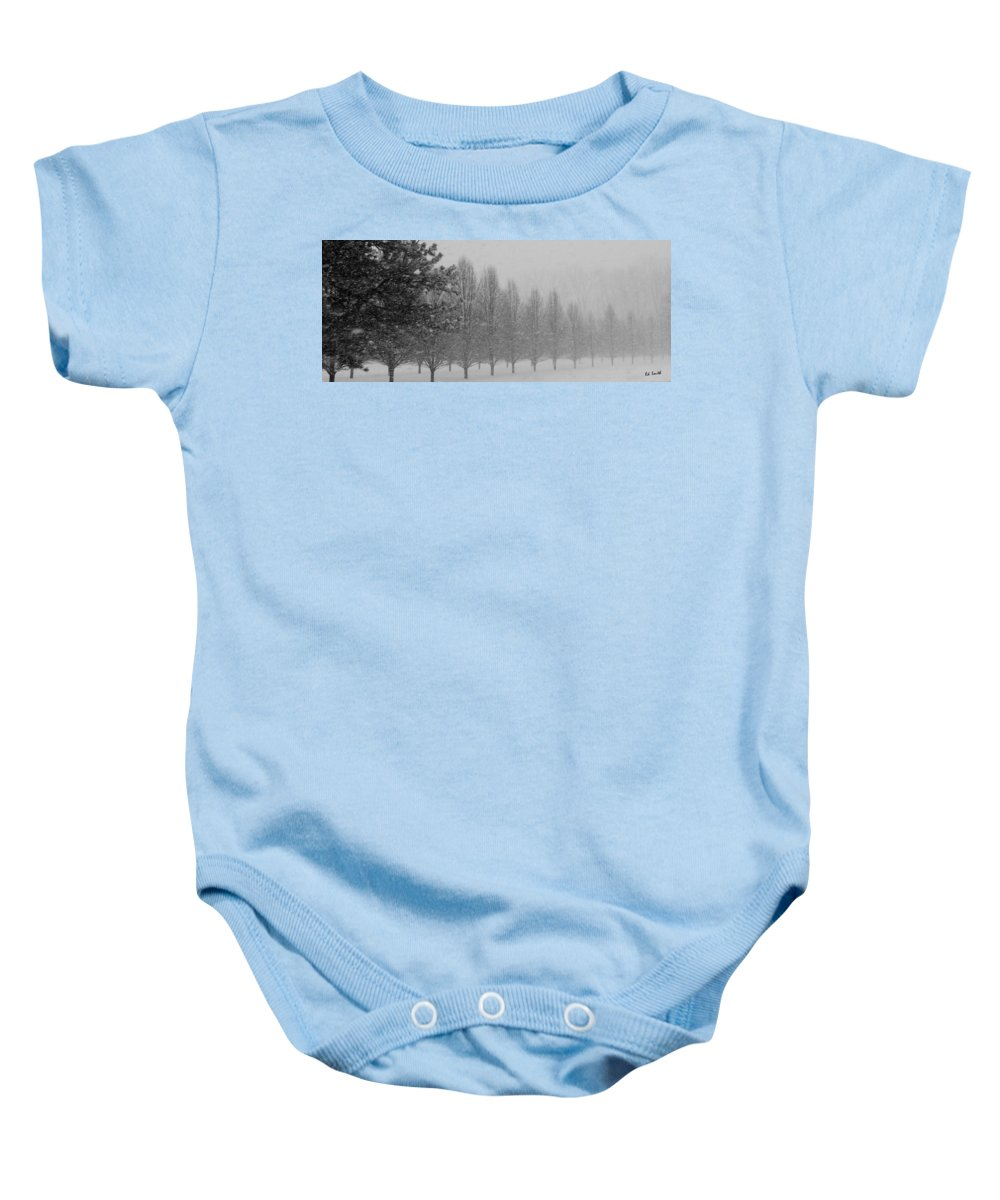 Winter Walk Baby Onesie featuring the photograph Winter Walk by Ed Smith
