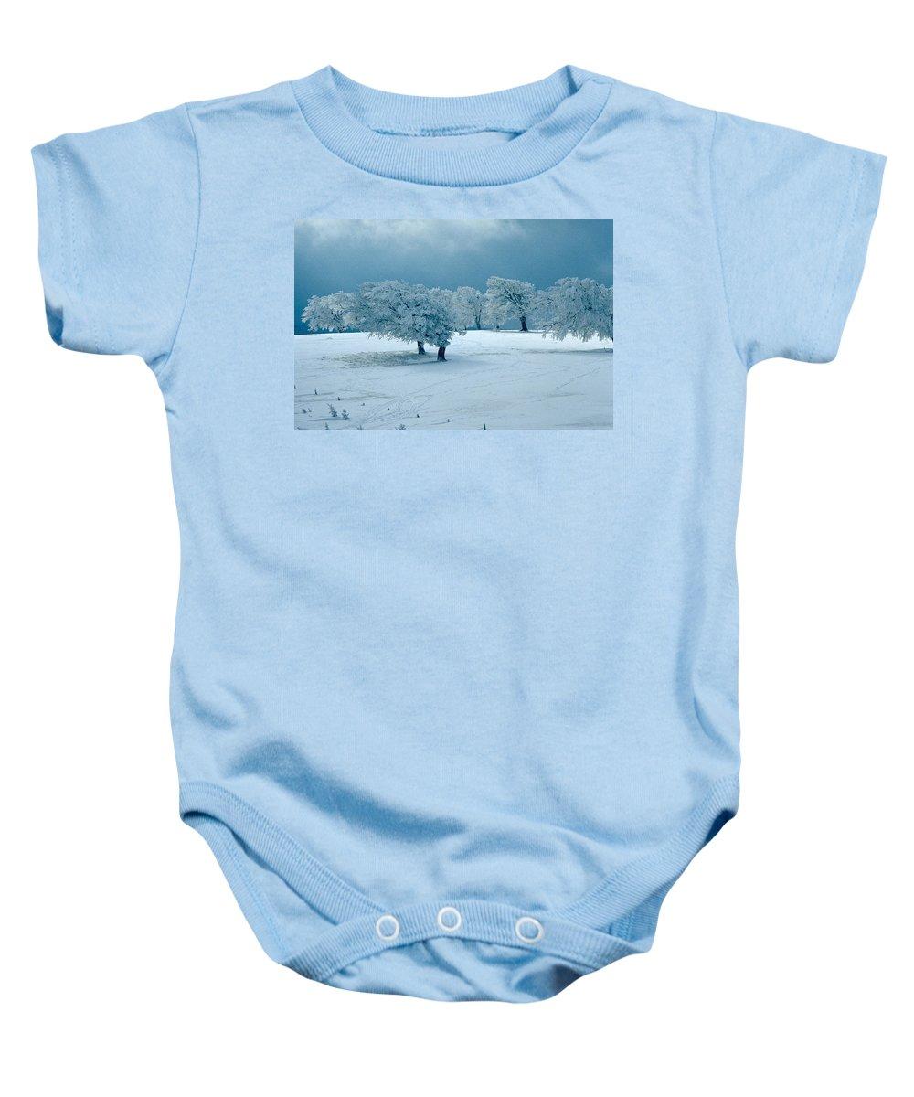 Winter Baby Onesie featuring the photograph Winter Wonderland by Flavia Westerwelle