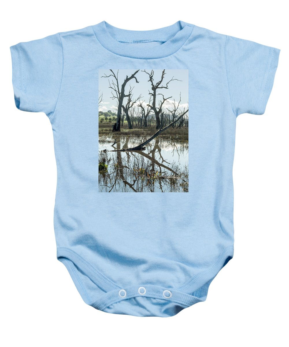 Swamp Baby Onesie featuring the photograph Winton Wetlands by Linda Lees