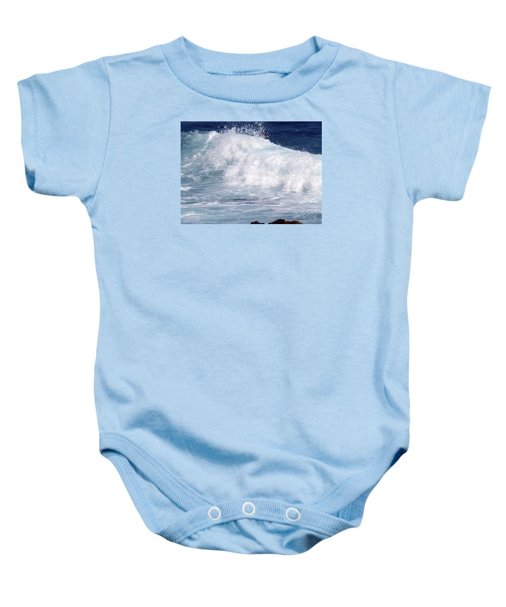 Fine Art Photography Baby Onesie featuring the photograph Wipe-out by Patricia Griffin Brett