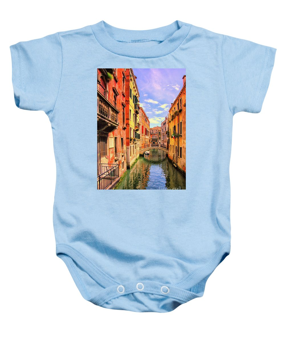 Italy Baby Onesie featuring the photograph Wipe Your Feet by Russell Alexander