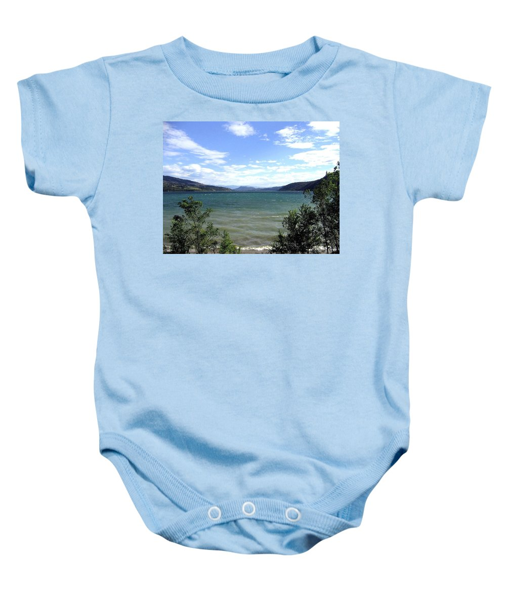 Wood Lake Baby Onesie featuring the photograph Wood Lake In Summer by Will Borden