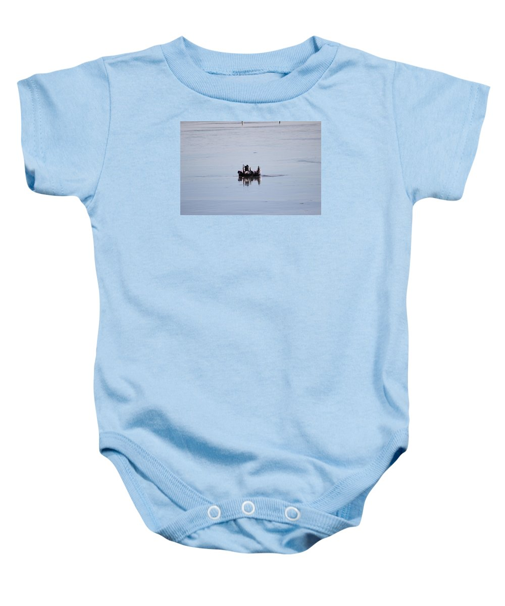 Frozen Baby Onesie featuring the photograph Wooden Ice Castles by Tammy Miller