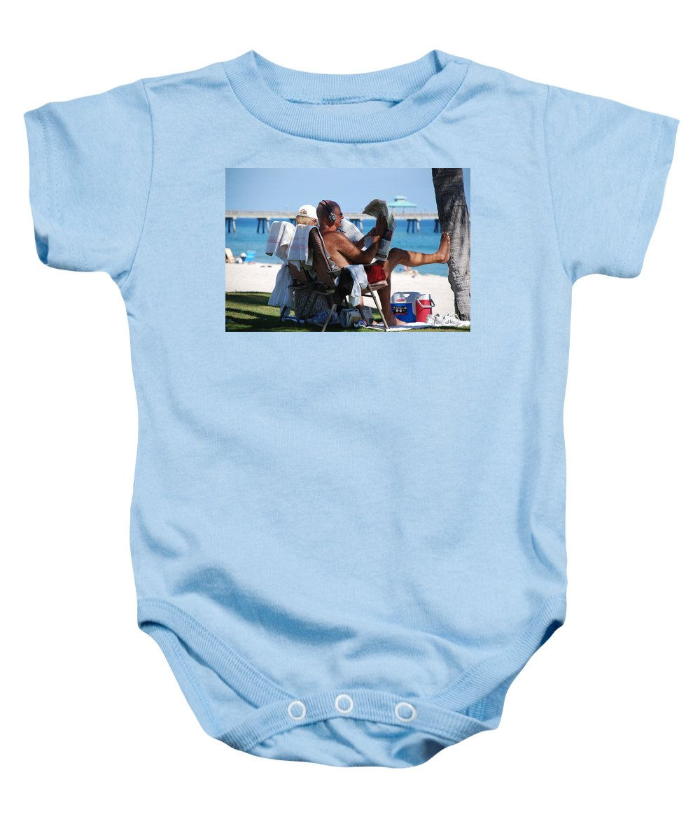 Man Baby Onesie featuring the photograph Working Hard by Rob Hans